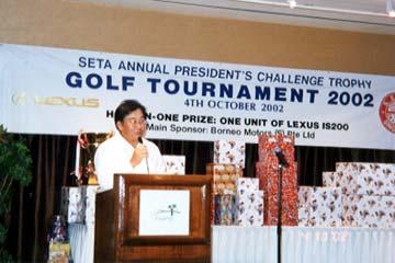SETA Annual President's Challenge Trophy Golf Tournament 2002 (04.10.2002)